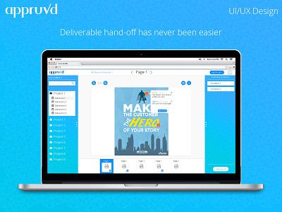 Appruvd - UI/UX Design user experience user interfrace uiux web design approvals deliverable marketing website ui