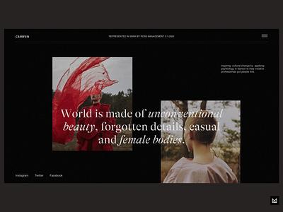 Camren Studio photography photo inspiration figma sketch fashion ux em ecommerce app minimal ui idea design