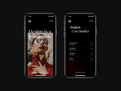 EM Portfolio - 2020 portfolio activity fashion ux em minimal ui idea design