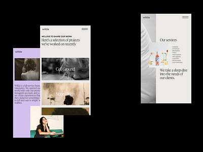 Wilda Agency - Mobile Design fashion classic typography web design website web visual art art direction branding ux em app minimal ui idea design