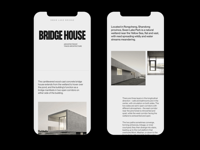 Bridge House - Mobile ux animation ui inspiration branding em moonlight typography web website minimal idea design