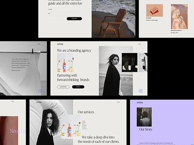 Wilda - Desktop ecommerce fashion design idea minimal website web typography moonlight em branding inspiration ui animation ux