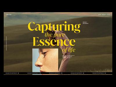 Moonlight - Editorial motion graphics animation ux inspiration moonlight typography web fashion ecommerce branding em app minimal ui idea design