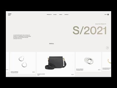 Keen - Slider photography design idea ui minimal app em branding ecommerce slider fashion web typography moonlight inspiration ux animation motion graphics