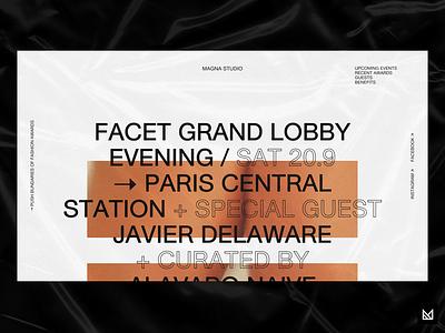 Magna Studio typography creative figma ux web design landing page web fashion em ecommerce minimal ui idea design