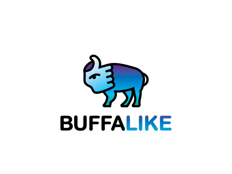 Buffalike design buffalo ny illustrator thumbs up logo
