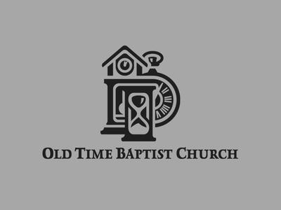 Old Time Baptist Church Logo logo clocks church logo