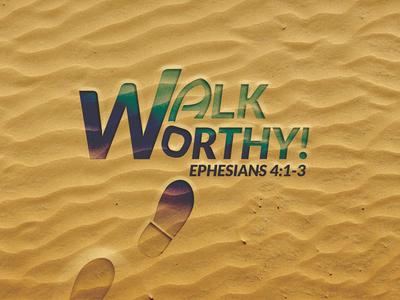 Walk Worthy sand logo footprint