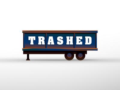 Trashed illustrator trash logo dumpster
