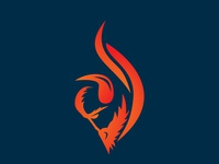 Buffalo Fire fire department illustrator buffalo flame logo flame fire