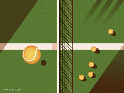 Tennis vector sport illustration 2d tennis ball tennis