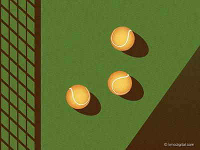 Tennis Balls tennis ball illustration 2d tennis sport vector