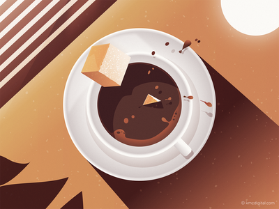 'Coffee Time' Illustration cup cup of coffee sugar cafe coffee illustrator editorial 2d vector illustration
