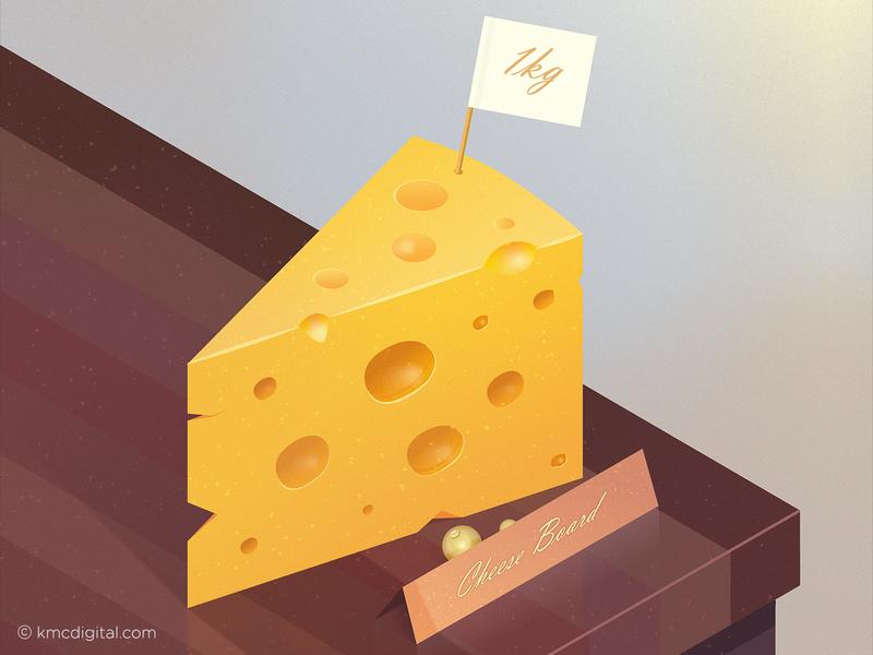 'Cheese Board' Illustration kitchen illustrator art cheeseboard cheese illustrator editorial vector 2d illustration
