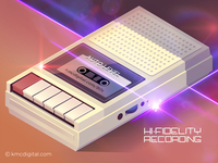'Retro Cassette Recorder' Illustration