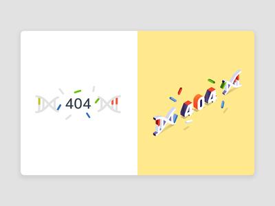 404 Isometric Practice | Daily UI