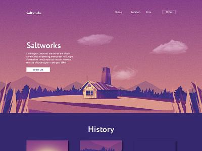 Drohobych Saltworks illustration vector design illustration ui salt drohobych