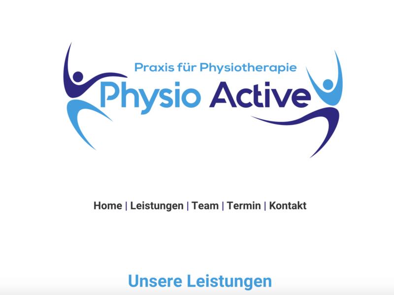 Physio Active landing page landingpage html vector logo business ui