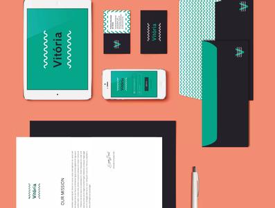 Vitorinha ID card logo vector graphic business design