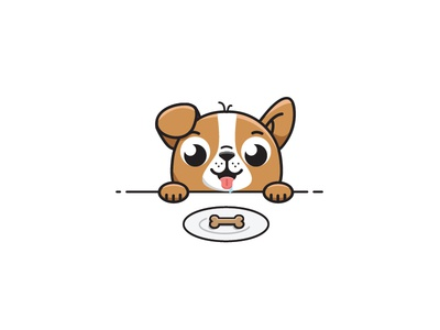 Snack time 🍪 🐶 illustration vector dog biscuit cookie pug funny snack puppy cute dog eat dog