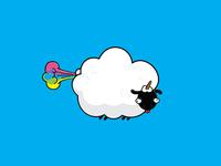 This sheep ain't sheepish 🐑 🌈