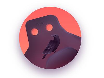 The Golem golden ratio golem golem of prague dark bird vector illustration