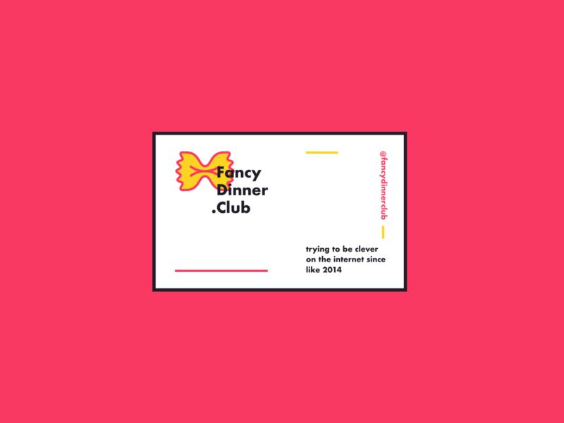 Fancy Dinner Club Card logo brand socialmedia blog influencer card club dinner fancy