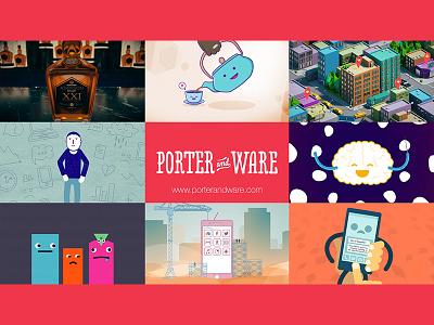 Porter and Ware Showreel 2017 vimeo 3d 2d motion graphics animation 2017 reel showreel
