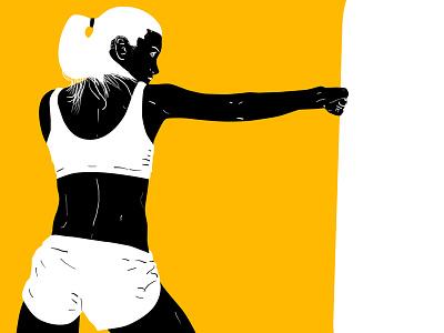 Fitness Style Frame style frame vector design female punch bag boxing fitness