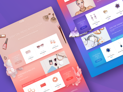 Charming Charlie Homepage Concept