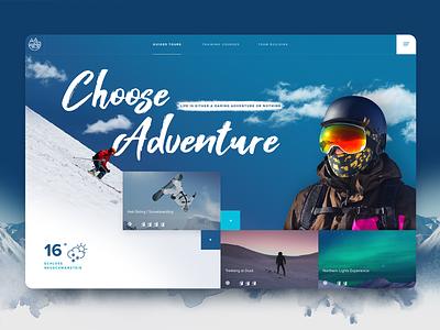 Alpine Hero Concept sport design website winter snow skiing outdoor alpine