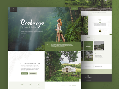 Eco Retreats Homepage Concept