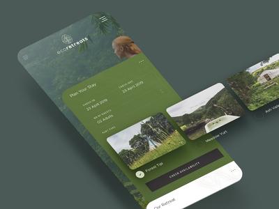 Eco Retreats - Booking Widget UI Design