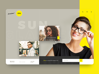 eCommerce UI Concept for a Sunglass Store