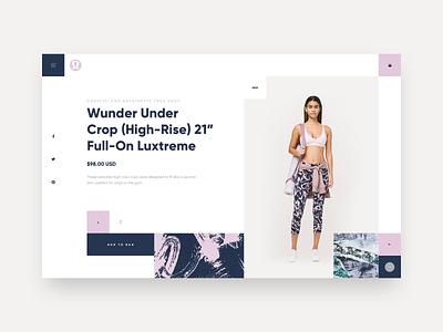 Lululemon UI Concept pattern lululemon yoga ui color design ecommerce website