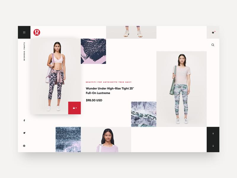 Lululemon Catalog Concept yoga ui fashion ecommerce color design website
