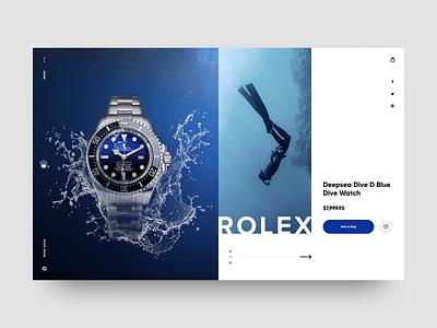Rolex UI Concept luxury store luxury watch watches creative jewelery sport shop fashion outdoor ui ecommerce design color website