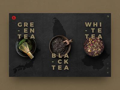 Teahouse Concept foodie rustic color dark design dark website dark ui tea food and drink food ui design website