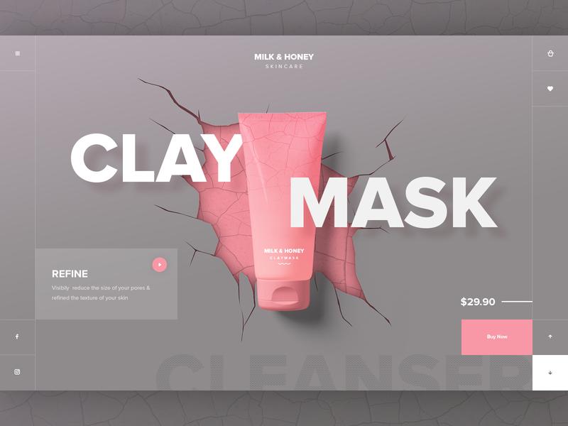 Beauty Brand Clay Mask UI Concept ui design beauty fashion ui ecommerce design website