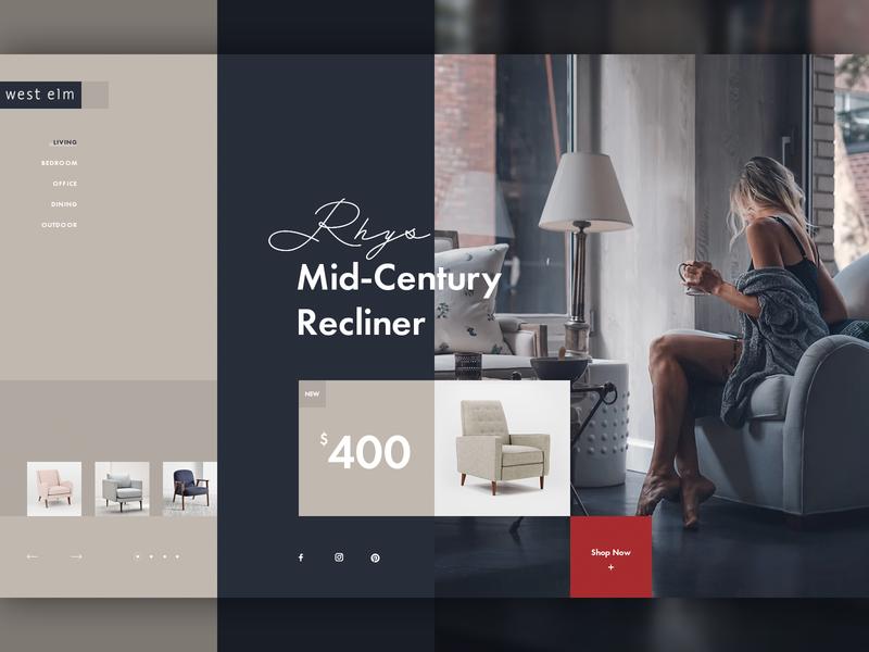 Furniture Store UI Concept creative ui concept furniture store ecommerce ui design website