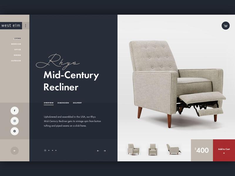 Furniture Shop UI Concept furniture ecommerce ui design website