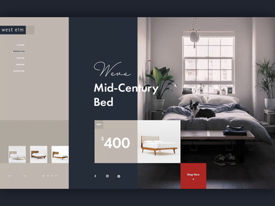 Furniture Store UI Concept Animation creative ui animation furniture store ui concept ecommerce ui design website