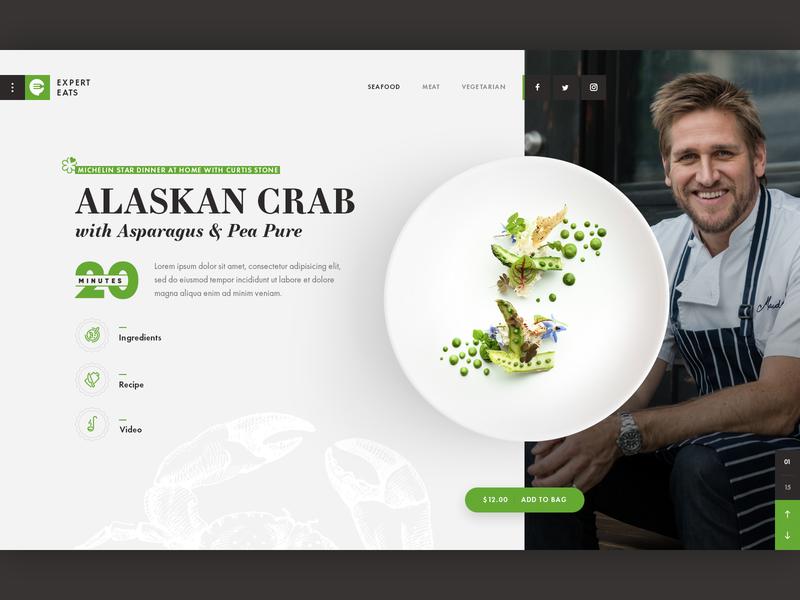 Meal Kit Delivery UI Concept uiux graphicdesign creative meals food app food ui ui concept restsaurant food ecommerce ui design website