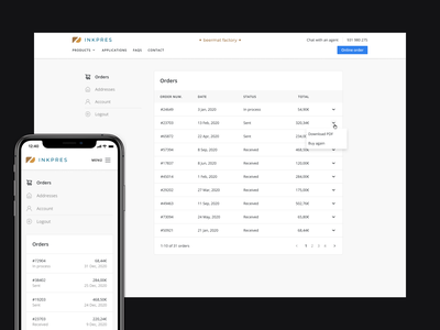 Ecommerce Dashboard responsive data table ux ecommerce orders dashboard ui