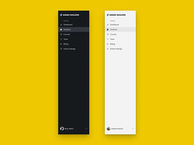 Sidebar ui ux product design