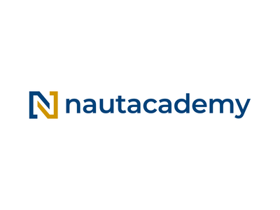 Nautacademy logo typogaphy logotype vector logo design branding design logo