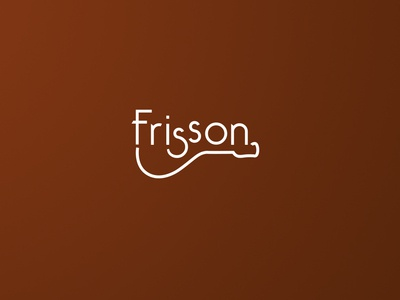 FRISSON graphic  design logotype logotype design designbetter minimalism visual communication frisson chorinho design typography concept branding visual identity identidade visual logo