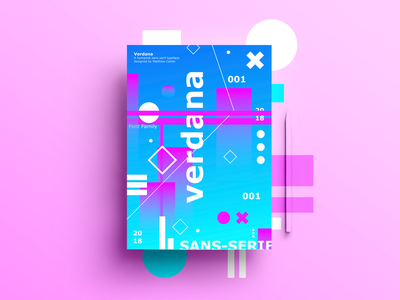 Verdana nice color pink blue abstract font verdana dribbble