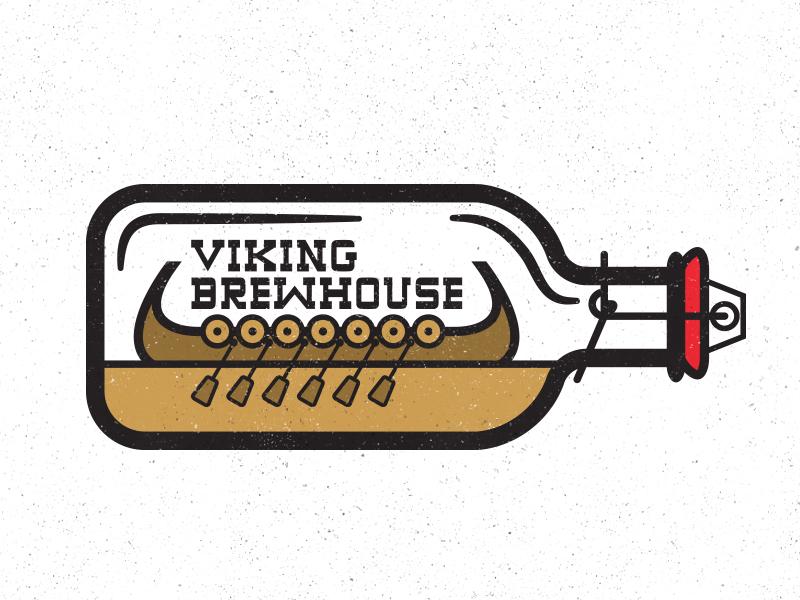 Brewhouse logo beer viking process