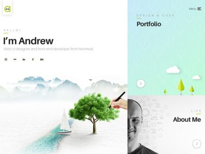 hm-andrew.com portfolio ui design web design